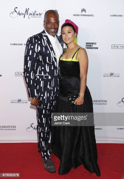 Chris Spencer and Vanessa Spencer attend the Wearable Art Gala Arrivals at California African American Museum on April 29 2017 in Los Angeles...