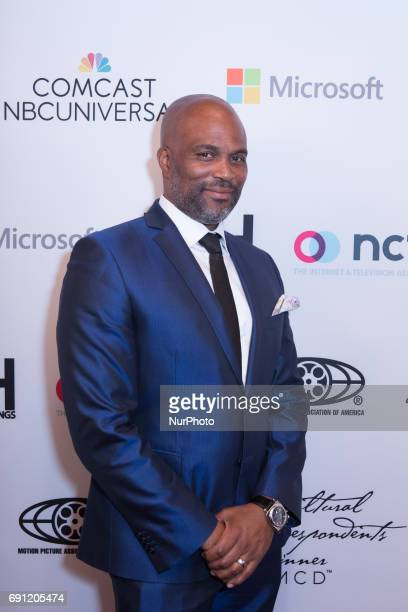 Chris Spencer Comedian actor writer and Master of Ceremonies on the red carpet for the Vote It Loud second annual Multicultural Media Correspondents...