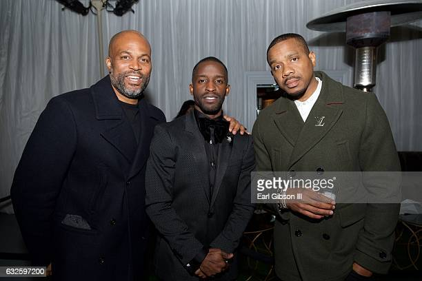 Chris Spencer Elijah Kelley and Duane Martin attend BET's 'The New Edition Story' Premiere ScreeningAfter Party on January 23 2017 in Los Angeles...