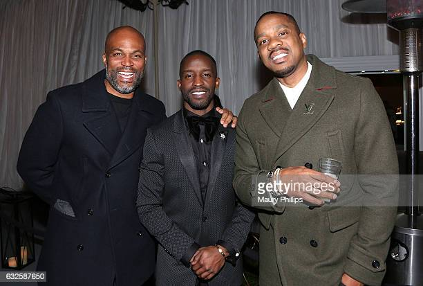 Chris Spencer Elijah Kelley and Duane Martin attend the after party for BET's 'The New Edition Story' on January 23 2017 in Los Angeles California