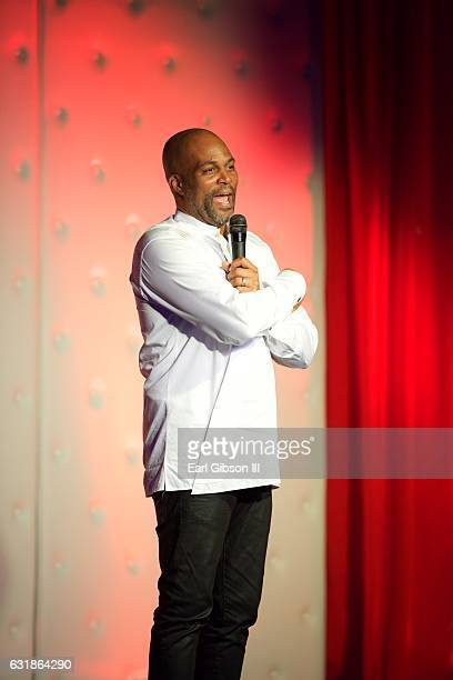 Chris Spencer performs on stage at this birthday celebration at The Savoy Entertainment Center on January 16 2017 in Inglewood California