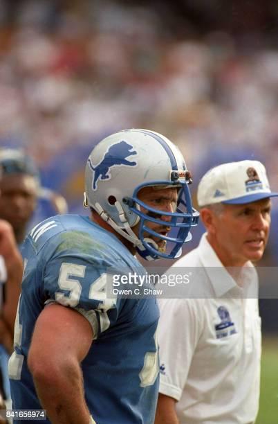 Chris Spielman of the Detroit Lions against the Los Angeles Rams at Anaheim Stadium circa 1993 in AnaheimCalifornia