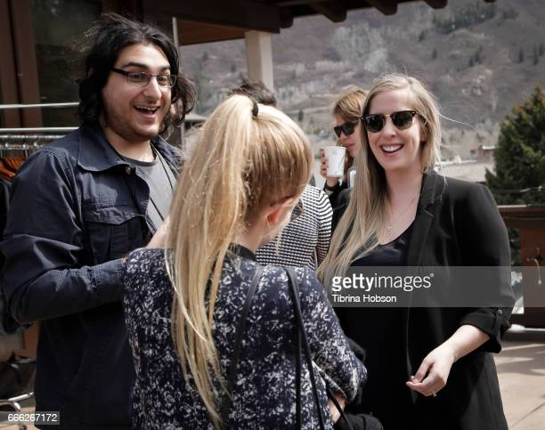 Chris Squadrito and Laura Good attend the 2017 Aspen Shortsfest filmmakers breakout sessions on April 7 2017 at Mountain Chalet in Aspen Colorado