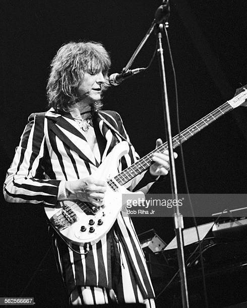 Chris Squire cofounder of the band YES performs in concert at the Long Beach Arena September 27 1977