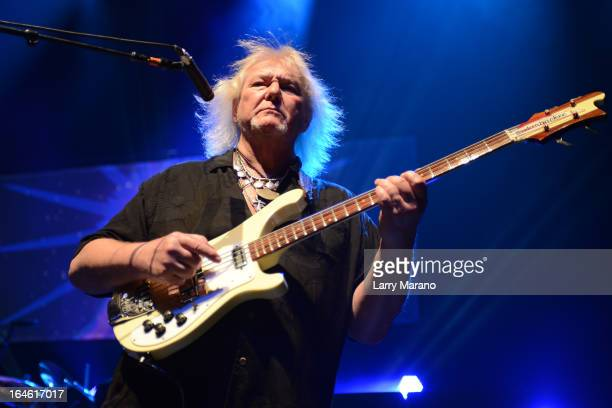 Chris Squire of Yes performs at Hard Rock Live in the Seminole Hard Rock Hotel Casino on March 24 2013 in Hollywood Florida