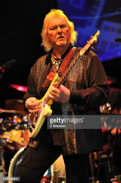 Chris Squire of Yes performs on stage at HMV Hammersmith Apollo on November 17 2011 in London United Kingdom
