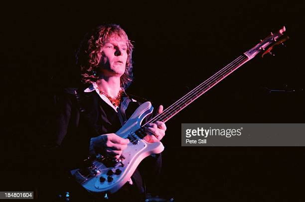 Chris Squire of Yes performs on stage at Wembley Arena on October 28th 1978 in London England