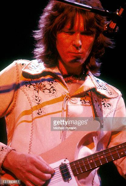 Chris Squire of Yes performs on stage London 1973