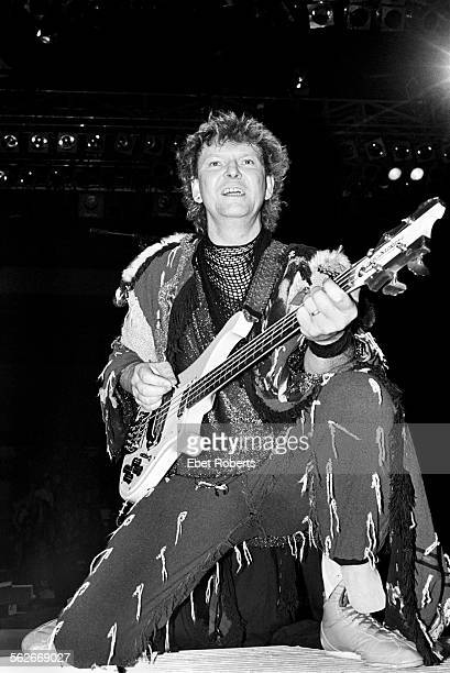 Chris Squire performing with Yes at Madison Square Garden in New York City on May 14 1984