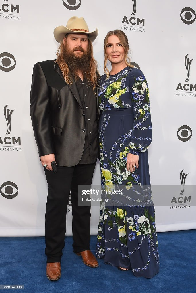 Chris Stapleton (L) and Morgane Stapleton attend the 11th Annual ACM Honors at the Ryman Auditorium on August 23, 2017 in Nashville, Tennessee.