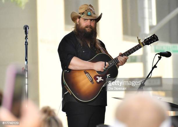 Chris Stapleton performs on NBC's 'Today' at Rockefeller Plaza on July 18 2017 in New York City