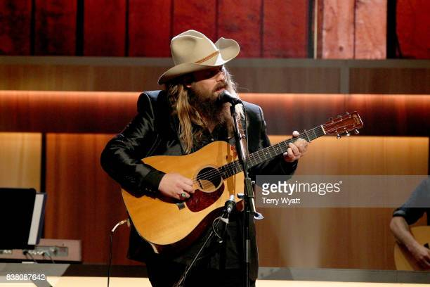 Chris Stapleton performs onstage during the 11th Annual ACM Honors at the Ryman Auditorium on August 23 2017 in Nashville Tennessee