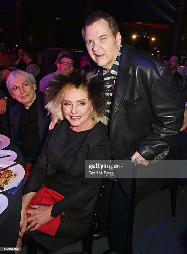 Chris Stein, Debbie Harry and Meat Loaf attend a drinks reception at The Stubhub Q Awards 2016 at The Roundhouse on November 2, 2016 in London, England.