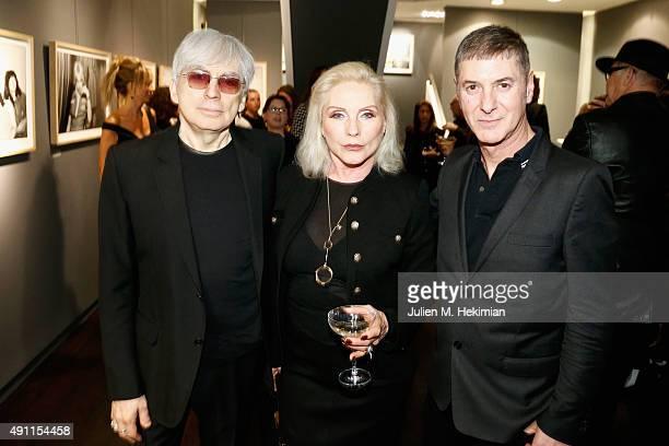 Chris Stein Debbie Harry Etienne Daho attend the Chris Stein 'Negative' Exhibition Opening at Galerie Agnes Monplaisir on October 3 2015 in Paris...
