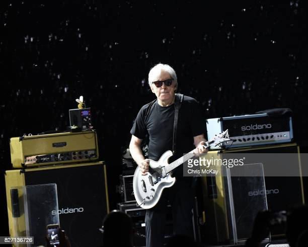 Chris Stein of Blondie performs at Chastain Park Amphitheater on August 6 2017 in Atlanta Georgia