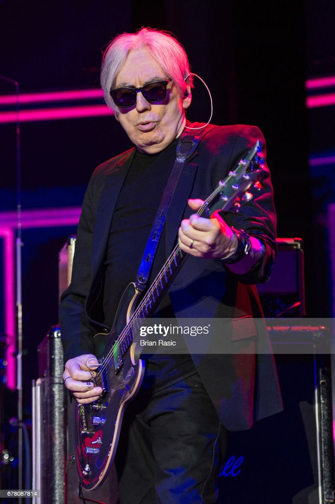 Chris Stein of Blondie performs at The Roundhouse on May 3, 2017 in London, England.