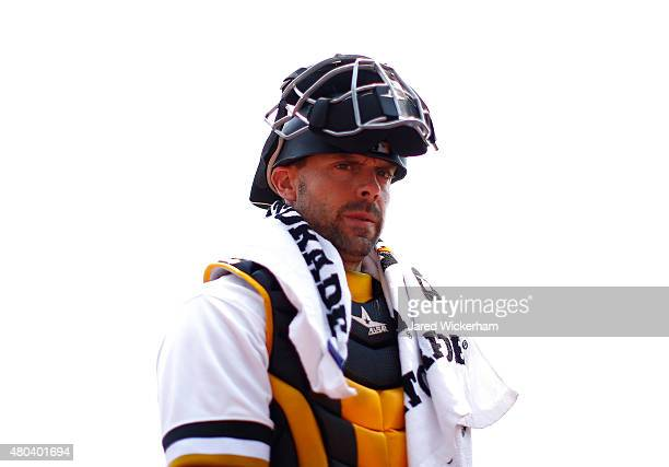 Chris Stewart of the Pittsburgh Pirates in action against the Cleveland Indians during the game at PNC Park on July 5 2015 in Pittsburgh Pennsylvania