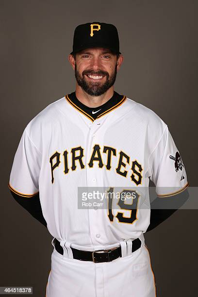Chris Stewart of the Pittsburgh Pirates poses for a portrait on photo day on February 26 2015 at Pirate City in Bradenton Florida