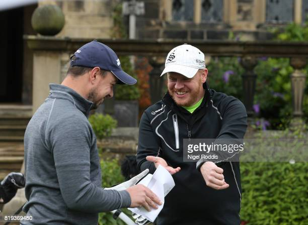Chris Storey of American Golf Discount and Dean Beaver of Scottsdale Golf UK during the Golfbreakscom PGA Fourball Championship North Qualifier at...