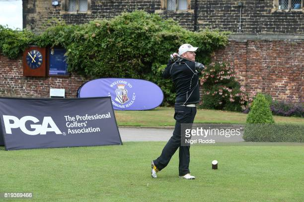 Chris Storey of American Golf Discount during the Golfbreakscom PGA Fourball Championship North Qualifier at Woodsome Hall Golf Course on July 20...