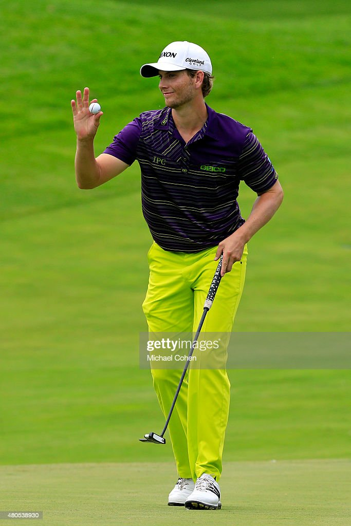 <a gi-track='captionPersonalityLinkClicked' href=/galleries/search?phrase=Chris+Stroud&family=editorial&specificpeople=4252206 ng-click='$event.stopPropagation()'>Chris Stroud</a> holds up his ball after making a birdie on the 14th hole during the final round of the John Deere Classic held at TPC Deere Run on July 12, 2015 in Silvis, Illinois.