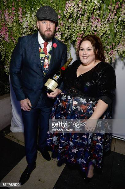 Chris Sullivan and Chrissy Metz at Moet Celebrates The 75th Anniversary of The Golden Globes Award Season at Catch LA on November 15 2017 in West...