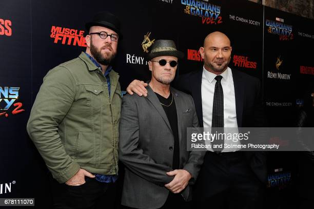 Chris Sullivan Michael Rooker and Dave Bautista attend a screening of Marvel Studios' 'Guardians Of The Galaxy Vol 2' hosted by The Cinema Society at...