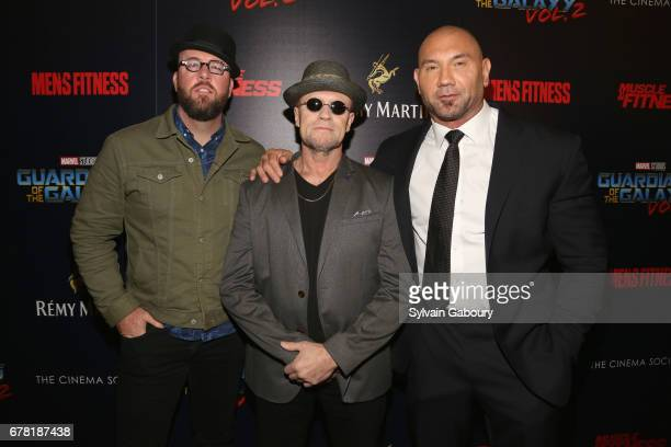 Chris Sullivan Michael Rooker and Dave Bautista attend The Cinema Society with Men's Fitness Muscle Fitness and Remy Martin host a screening of...
