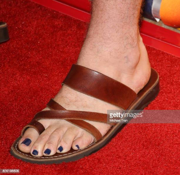 Chris Sullivan nail polish and sandal detail arrives to the 2017 Summer TCA Tour NBC Press Tour held at The Beverly Hilton Hotel on August 3 2017 in...