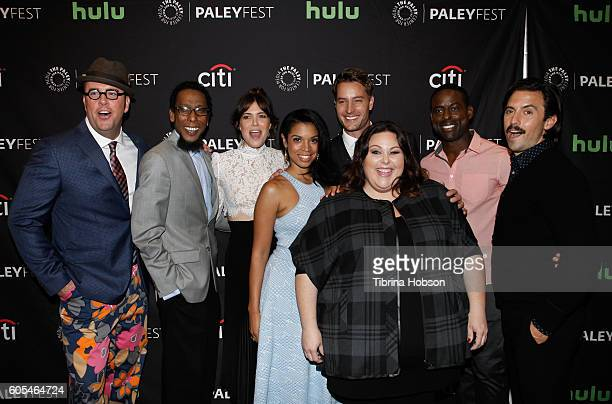 Chris Sullivan Ron Cephas Jones Mandy Moore Susan Kelechi Watson Justin Hartley Chrissy Metz Sterling K Brown and Milo Ventimiglia attend The Paley...
