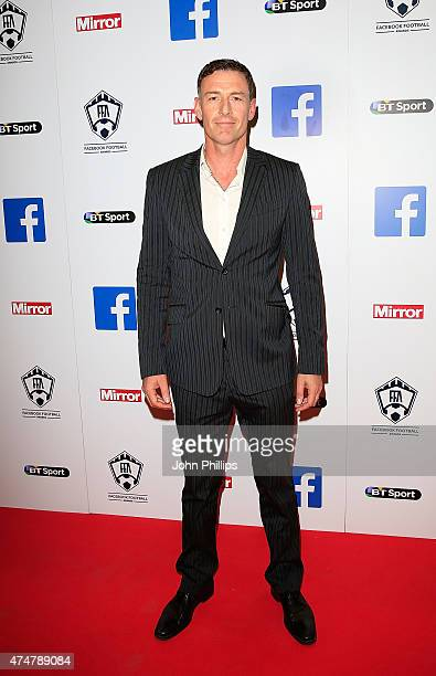 Chris Sutton arrives at the inaugural Facebook Football Awards on May 26 2015 in London England