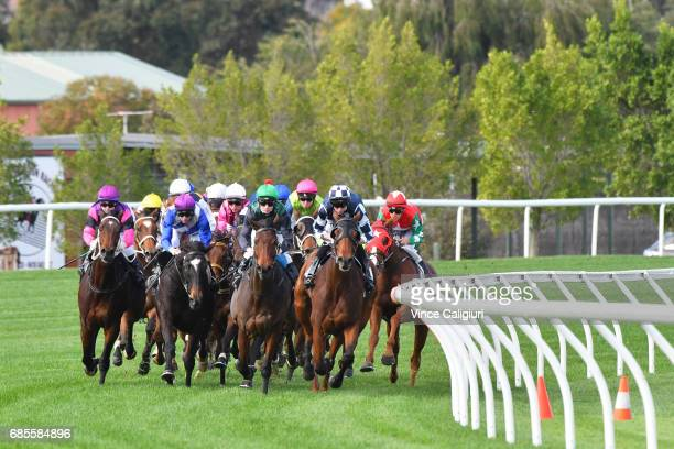 Chris Symons riding Northern Journey before winning Race 3 John JJ Miller Hall of Fame Trophy during Melbourne Racing at Flemington Racecourse on May...
