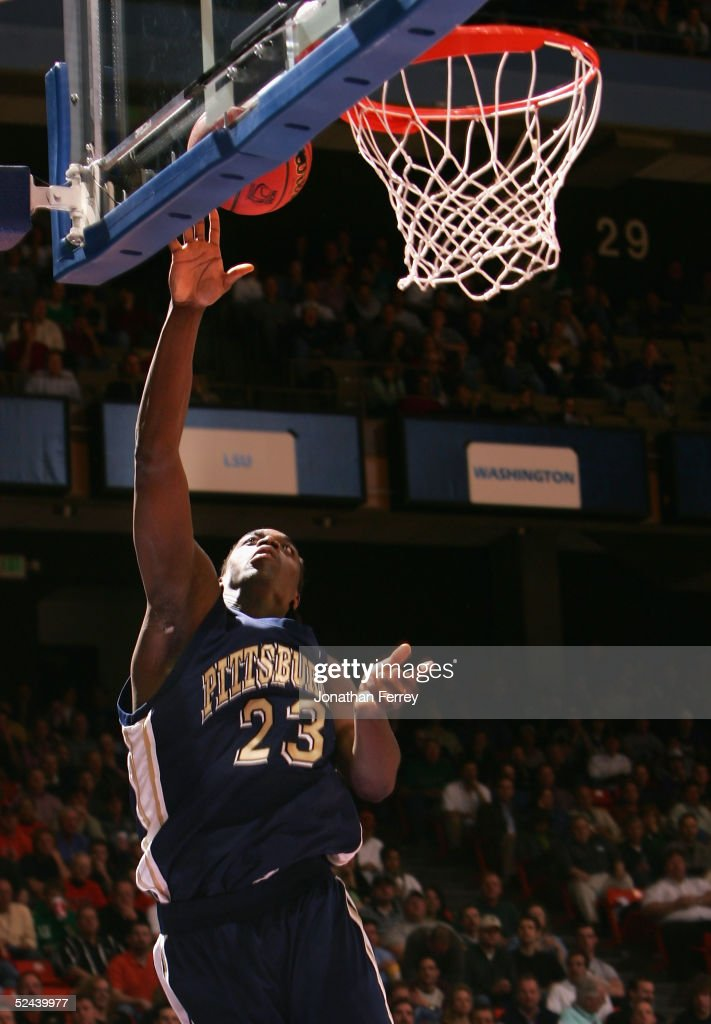 Chris Taft of the Pittsburgh Panthers lays up a shot during the 2005 NCAA division 1 men's basketball championship tournament game against the...