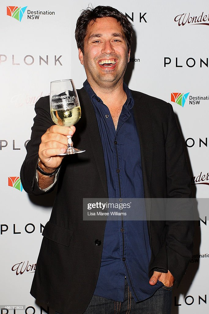 Chris Taylor arrives at the PLONK media launch at Palace Verona on February 4, 2014 in Sydney, Australia.