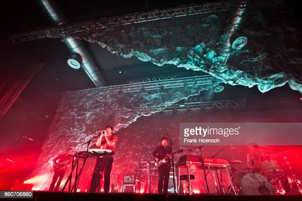 Chris Taylor Ed Droste Daniel Rossen and Christopher Bear of the American band Grizzly Bear perform live on stage during a concert at the Huxleys on...