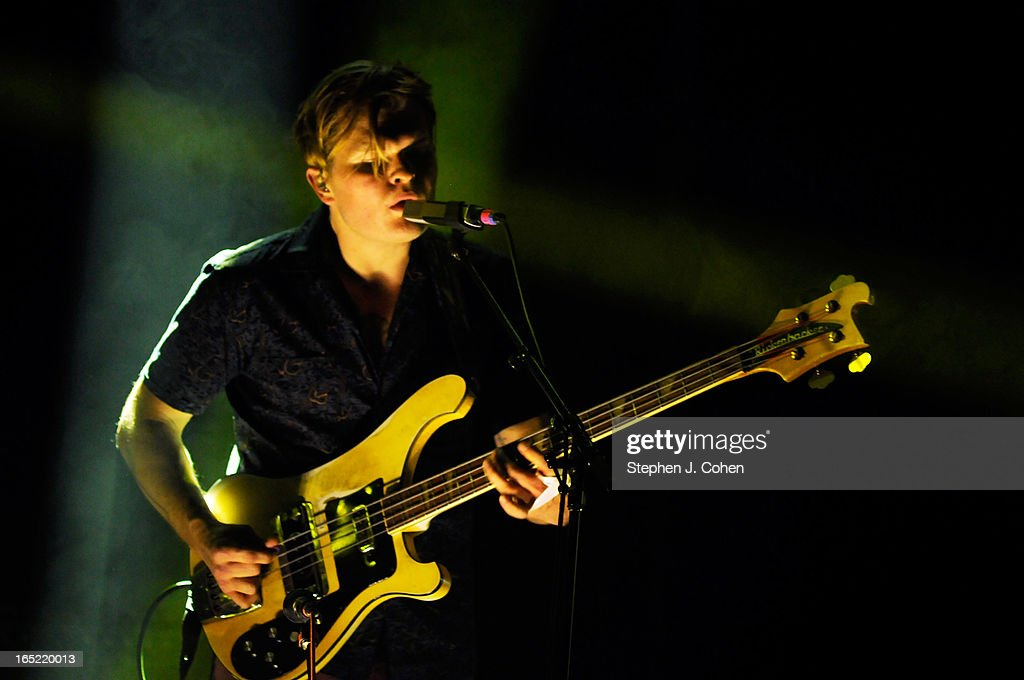 Chris Taylor of Grizzly Bear performs in concert at The Brown Theatre on April 1, 2013 in Louisville, Kentucky.