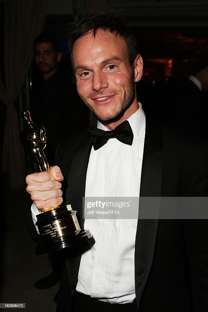 <a gi-track='captionPersonalityLinkClicked' href=/galleries/search?phrase=Chris+Terrio&family=editorial&specificpeople=208138 ng-click='$event.stopPropagation()'>Chris Terrio</a> attends the 2013 Vanity Fair Oscar Party hosted by Graydon Carter at Sunset Tower on February 24, 2013 in West Hollywood, California.