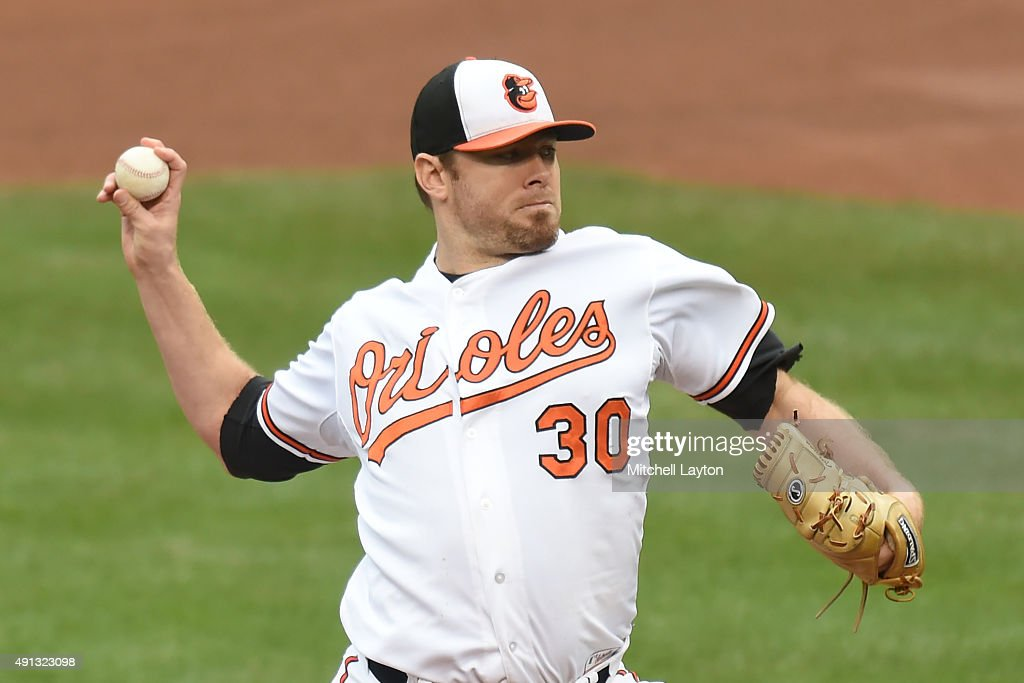 <a gi-track='captionPersonalityLinkClicked' href=/galleries/search?phrase=Chris+Tillman&family=editorial&specificpeople=713179 ng-click='$event.stopPropagation()'>Chris Tillman</a> #30 of the Baltimore Orioles pitches in the forth inning during a baseball game against the New York Yankees at Oriole Park at Camden Yards on October 4, 2015 in Baltimore, Maryland.