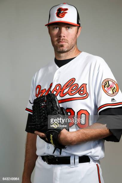 Chris Tillman of the Baltimore Orioles poses for a portait during a MLB photo day at Ed Smith Stadium on February 20 2017 in Sarasota Florida