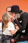 Chris Tine Urspruch and Diane Keaton attend Wetten dass from Erfurt on October 04 2014 in Erfurt Germany