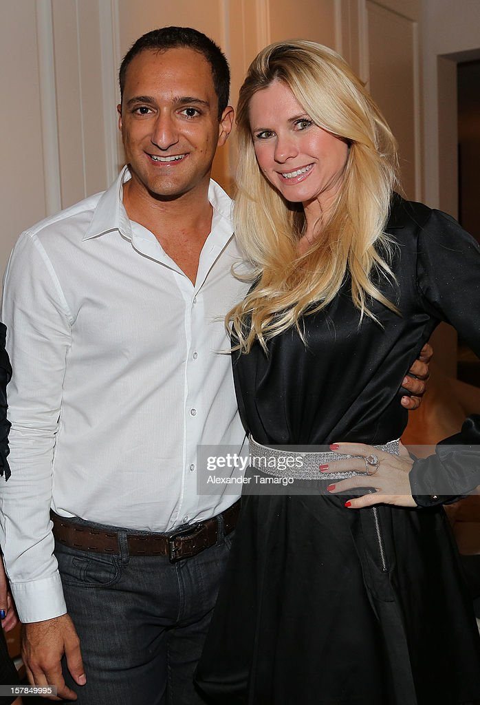 Chris Tinton and Michelle Judd attend FENDI Casa's Art Basel cocktail party honoring the contemporary artwork of Andy Warhol with Elle Decor at FENDI Casa Luxury Living Showroom on December 6, 2012 in Miami, Florida.