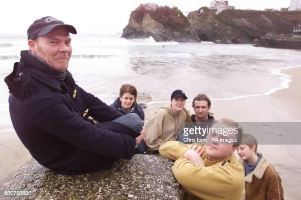 Chris Titherington with Victoria Caulton Carley Phillips Ben Marsh Gary Lomas and Sarah Caulton on Newquay beach taking to the media The group saw...