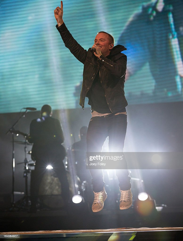 Chris Tomlin performs in concert during 'Burning Lights' tour at Bankers Life Fieldhouse on March 1, 2013 in Indianapolis, Indiana.
