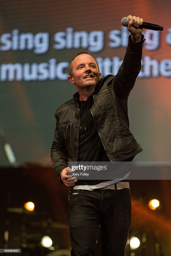 <a gi-track='captionPersonalityLinkClicked' href=/galleries/search?phrase=Chris+Tomlin&family=editorial&specificpeople=4148544 ng-click='$event.stopPropagation()'>Chris Tomlin</a> performs in concert during 'Burning Lights' tour at Bankers Life Fieldhouse on March 1, 2013 in Indianapolis, Indiana.