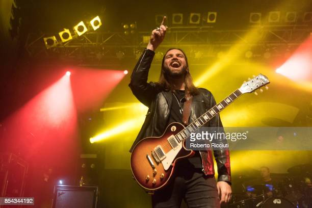 Chris Traynor of British rock band Bush performs on stage at O2 ABC Glasgow on September 26 2017 in Glasgow Scotland