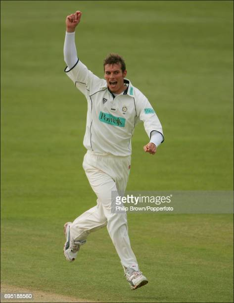 Chris Tremlett of Hampshire in action during the Frizzell County Championship Division One match between Kent and Hampshire at The St Lawrence Ground...