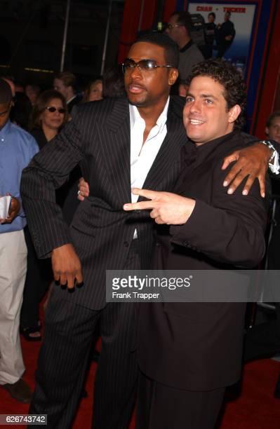 Chris Tucker and Brett Ratner at the premiere of 'Rush Hour 2'