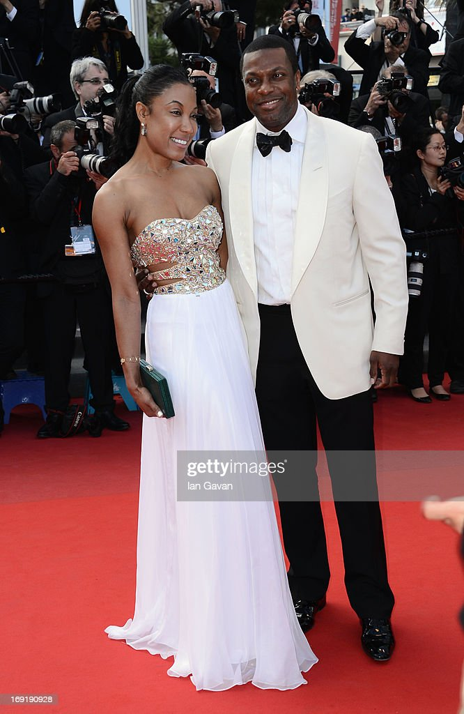 <a gi-track='captionPersonalityLinkClicked' href=/galleries/search?phrase=Chris+Tucker&family=editorial&specificpeople=203254 ng-click='$event.stopPropagation()'>Chris Tucker</a> (R) and guest attend the 'Cleopatra' Premiere during the 66th Annual Cannes Film Festival at Grand Theatre Lumiere on May 21, 2013 in Cannes, France.