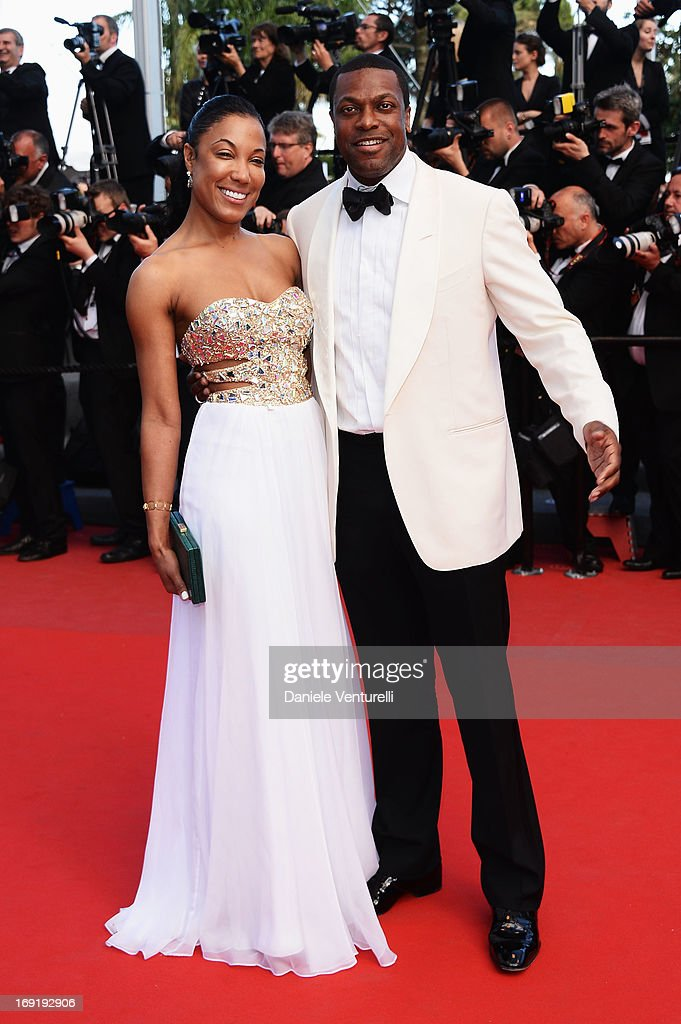 Chris Tucker (R) and guest attend the Premiere of 'Cleopatra' during the 66th Annual Cannes Film Festival at the Palais des Festivals on May 21, 2013 in Cannes, France.