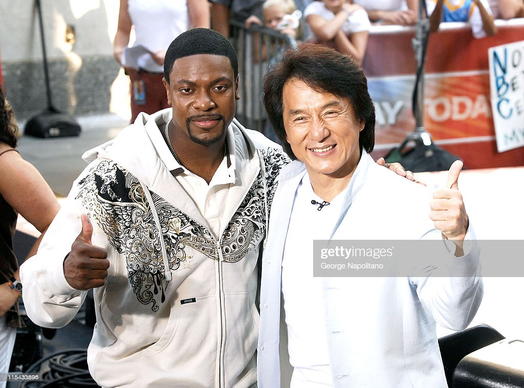 Chris Tucker and Jackie Chan at the NBC's 'Today Show' at Rockefellar Centre on August 3, 2007 in New York, United States.